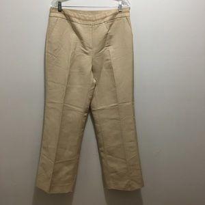 Emma James Linen Blend Tan Trousers